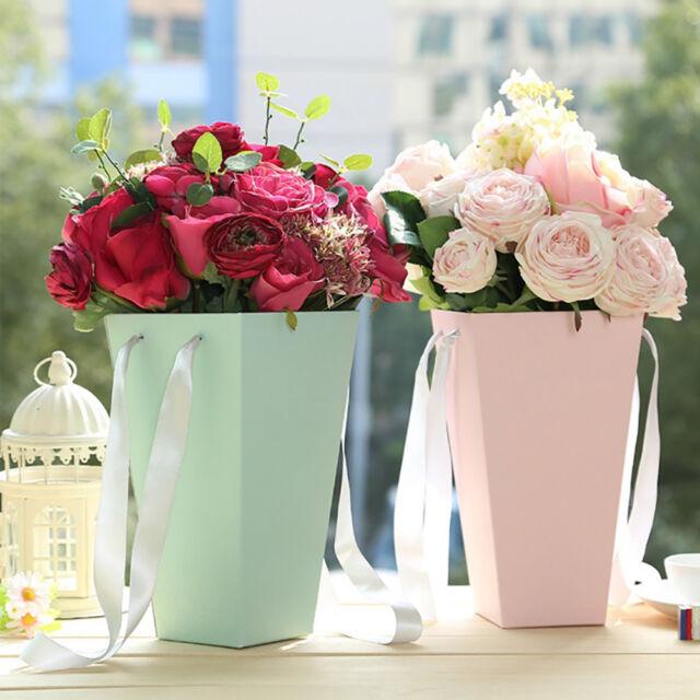 ALS_ Bouquet Flower Box Paper Vases Florist Case Bucket Wedding Party Decor Fash