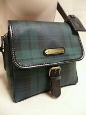 90's Polo Ralph Lauren Green Tartan Plaid Check Cross Body Bag Purse Blackwatch