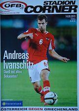 Programm LS 14.8.2013 Österreich - Griechenland