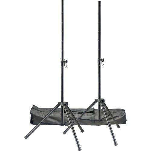 STAGG Q-Serie Boxenstativ-Set bis 50kg Stahl inkl TascheNeu