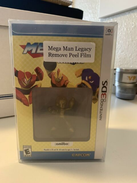 Mega Man Legacy Collection: Collector's Edition Nintendo 3DS New w/ Gold Amiibo