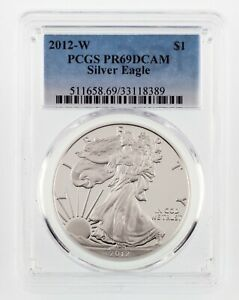 2012-W-1-Silver-American-Eagle-Proof-Graded-by-PCGS-as-PR69DCAM