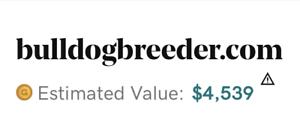BulldogBreeder.com Domain Name. 22+ years old domain name. Registered in 1998