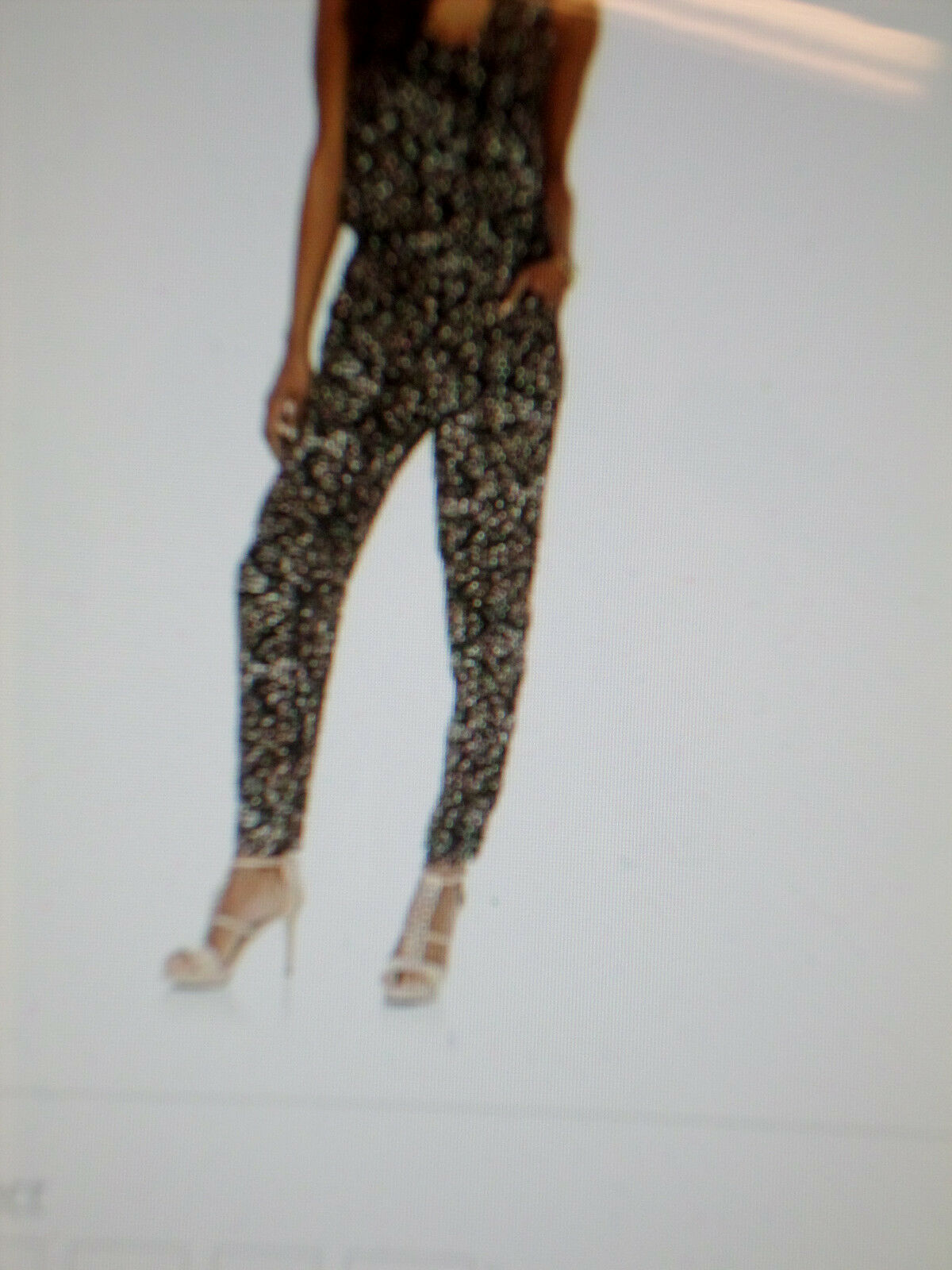 Kardashian Kollection Woman's Jumpsuit-Animal Print