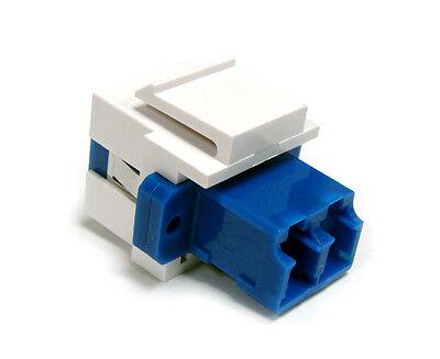 Single Mode Qty LC Duplex Fiber Optic Keystone Jack Insert 12 – 4414 White