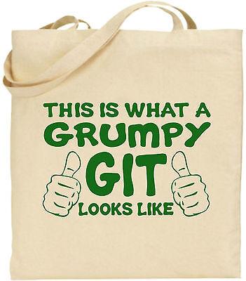 Dies Ist, Was A Grumpy Git Looks Like Groß Baumwolltasche Einkaufstasche