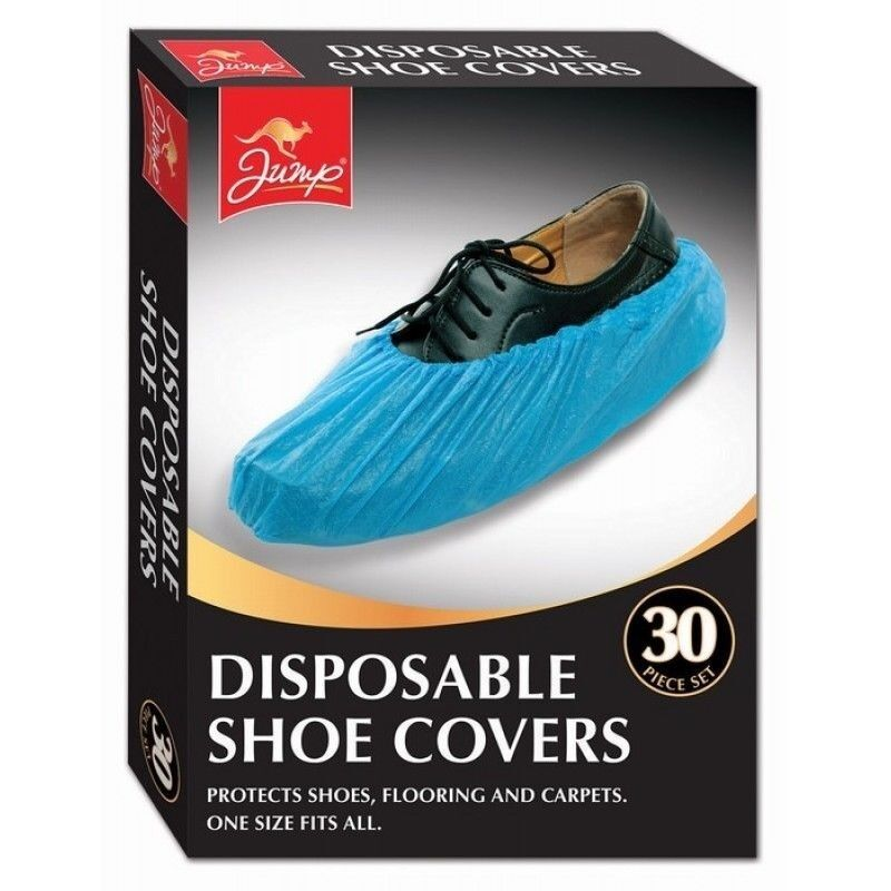 500X Disposable Plastic Over Shoes Shoe Boot Covers Carpet Protectors Home Blue