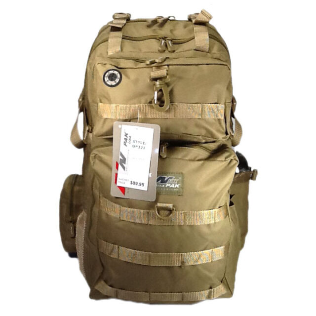 Nexpak Military Style Hunting Camping Hiking Backpack Dp321 Tan   eBay 6e3432e45a
