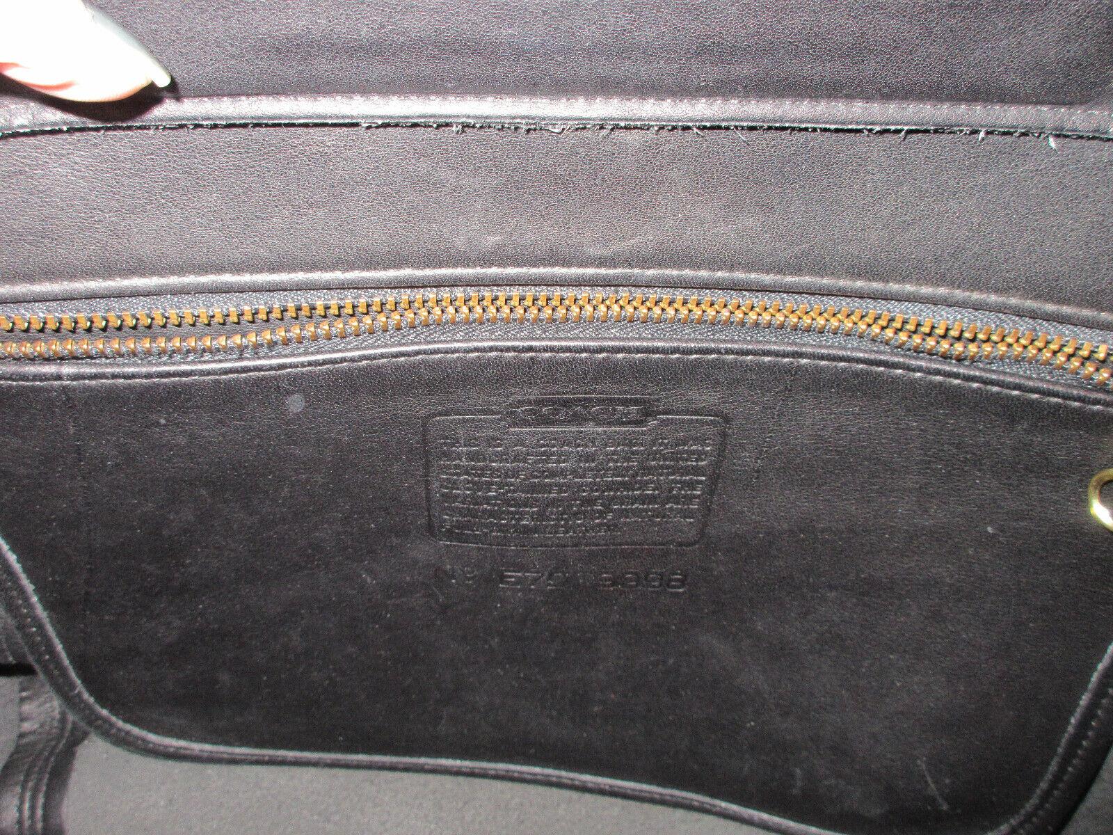 Vtg COACH 9998 Black Leather Large Framed Pouch H… - image 6