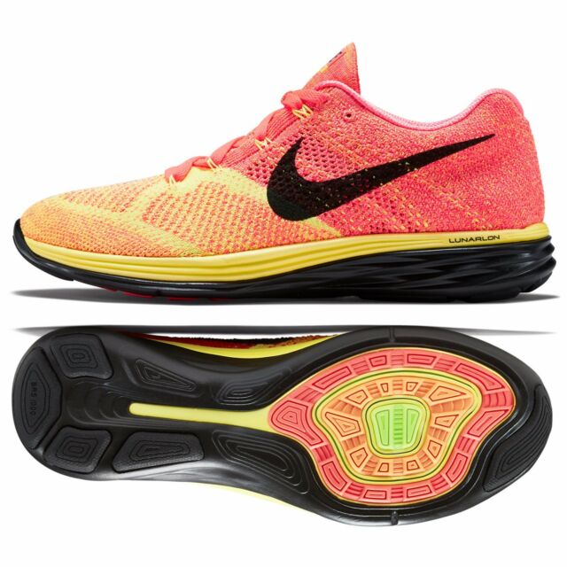 b2a97f7e7769 Nike Flyknit Lunar3 Mens Running Shoes 12 Hot Lava Volt Orange Black ...