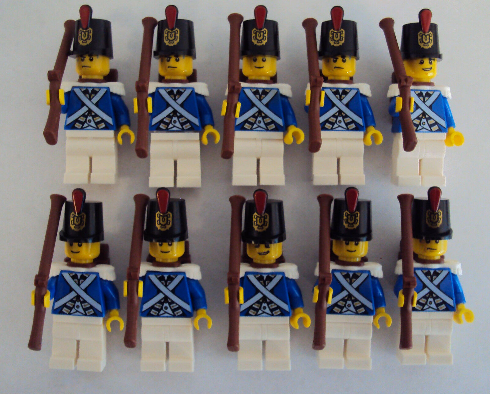 LEGO lot  of 10 Pirates blucoat Imperial Soldier Minicifras lot 2 Bre nuovo    Ultimo 2018