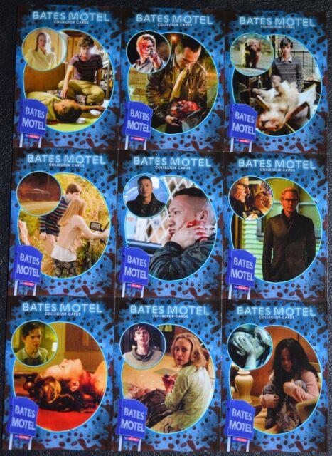 Bates Motel Season 1 Victims Complete Chase Set Inserts V1 - V9 Trading Cards