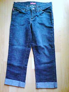 WOMENS-GIRLS-BLUE-CROPPED-JEANS-FOXHOLE-SIZE-8-UK-8-EU-36