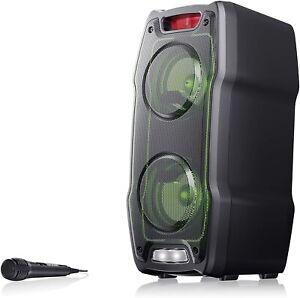 Sharp-PS-929-Portable-Bluetooth-LED-Party-Speaker-System-180W-Black-B