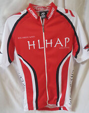 Verge Bike Cycling Race Jersey Red White Full Zipper Short Sleeves Men's Small