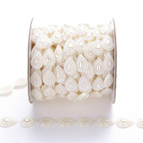 Trim Sew On Artificial gouttelettes d/'eau Forme Perles Perles Chaîne Guirlande 2 Yd environ 1.83 m