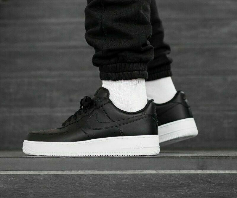 Nike Air Force 1 One Low 07 Men's shoes Lifestyle Comfy Sneakers Black White