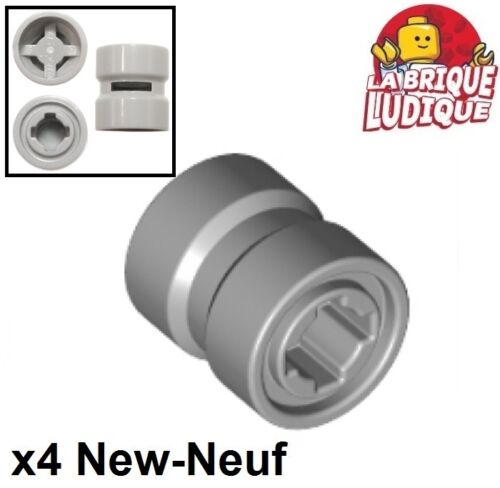 4x roue jante wheel 8mm D.x 9mm Reinforced back gris//l b gray 74967 NEUF Lego
