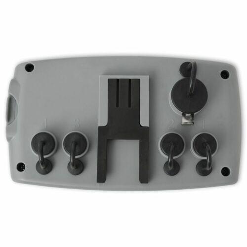 vidaXL Bewässerungscomputer Bewässerungsuhr Kontrol 4 Schlauch-Anschlüssen 3 V