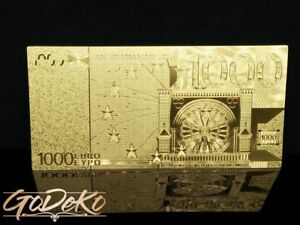 1000 Euro Gold Banknote Sonderedition Geldschein Schein Note Goldfolie Karat A Ebay