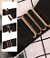 thumbnail 7 - Women Wide Elastic Stretch Waist Belt Gold Bucket Black Belt Wide Waist Belt