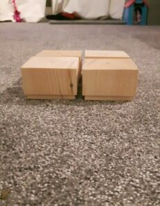 Image Is Loading A Set 4 Wooden Sofa Feet 50mm High