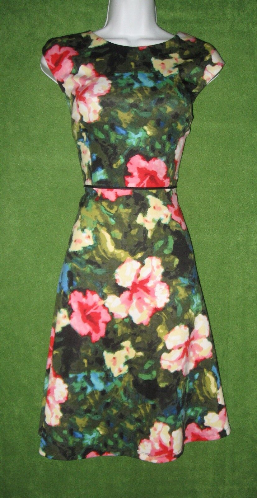 Maggy London MultiFarbe Floral WaterFarbe Stretch Knit Work Social Dress 10