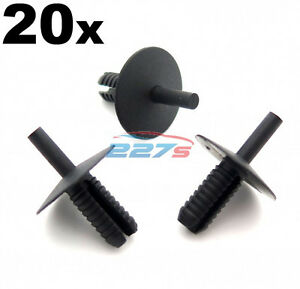50x Plastic Trim Fastener Clips Ducts etc Shields Used by BMW for Boot Lining