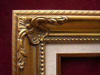 Decorative Ornate Gold Linen Liner Portrait Canvas Photo Picture Frame 18x24