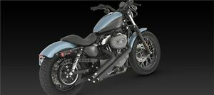 Scarichi Vance & Hines Sideshots Neri Harley Davidson Sportster Nightster 46035
