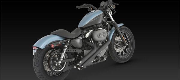 Scarichi Vance & Hines Sideshots Neri Harley Davidson Sportster Seventy Two 72