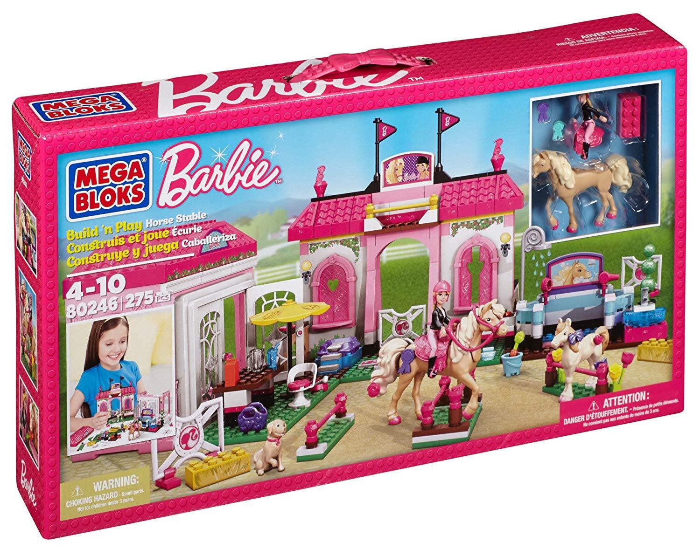 Mega Bloks Barbie Build 'n Play Horse Horse Play Stable 5b6e94