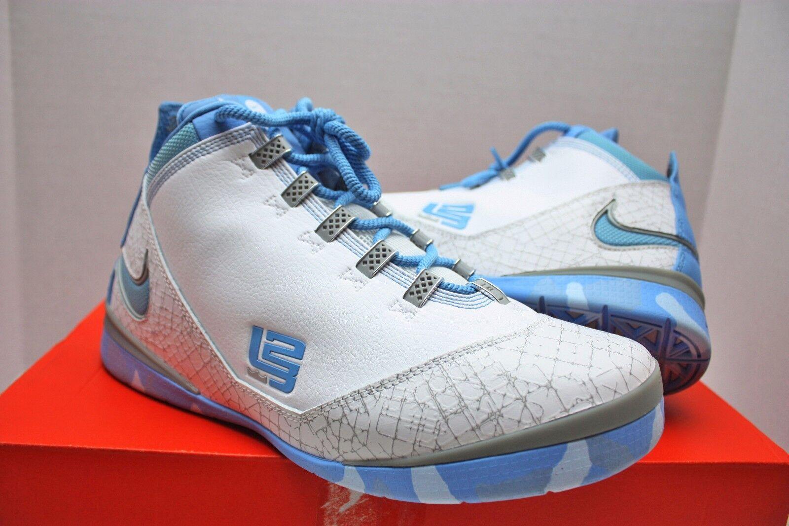 Nike Lebron Zoom Soldier II 2 Size 10 - North Carolina Tar Heels - 319407 143