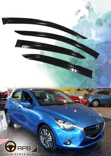 For Mazda 2 Demio 14-18 Deflector Window Visors Guard Vent Weather Shield