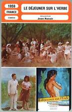 LE DEJEUNER SUR L'HERBE - Jean Renoir (Fiche Cinéma) 1959 - Lunch on the Grass