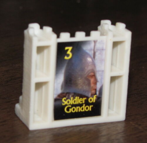 WHITE ARMY #3 Soldier of Gondor Trilogy STRATEGO LOTR Board Game Part//Piece