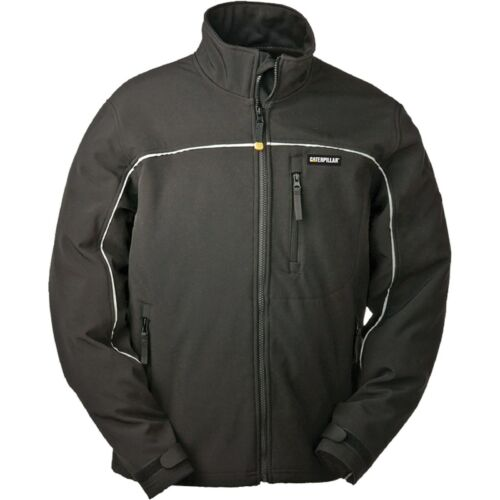 CAT Caterpillar Soft Shell Jacket Water Resistant Windproof Durable Mens Work