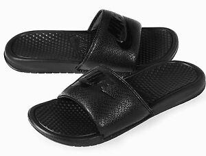 new product a19c5 dfd62 Image is loading Nike-Patterned-Benassi-JDI-Sliders-Slides-Mens-Slip-
