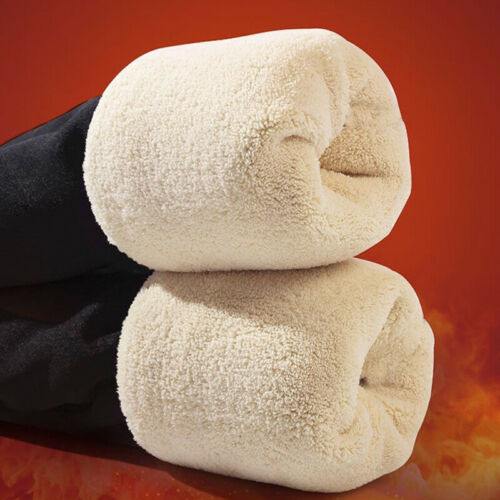 Women Winter Warm Fleece Velvet Pants Lined Thermal Thick Warm Leggings Pants