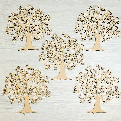 For Family Tree Crafting MDF Family Word Wooden Craft Blank Shape 5 Pack