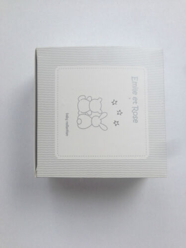 Rattle Gift Set with Box.Blue//White//Pink Designer EMILE ET ROSE Baby Comforter