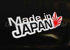 MADE IN JAPAN Japanese Car Decal Sticker JDM Honda Toyota  Mazda Subaru