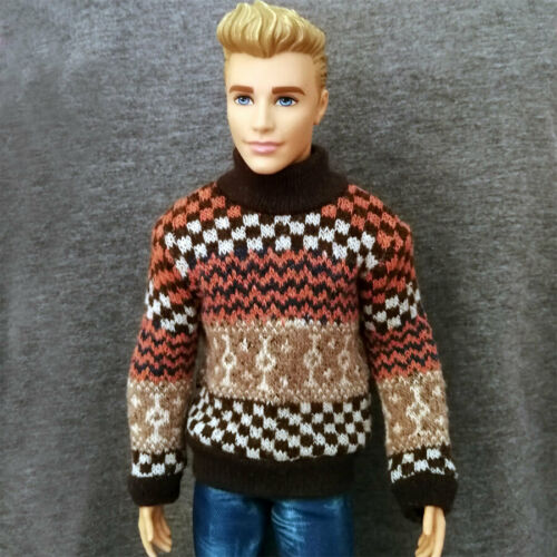 """Handmade doll clothes Sweater for 1//6 ken dolls 12/"""""""