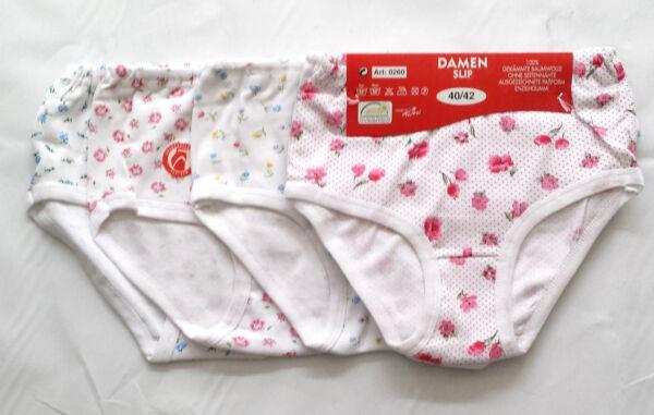 Damen Slip Baumwolle. 4 Stück 1 Preis,Ohne seitennähte Ausgezeichnete PaßForm