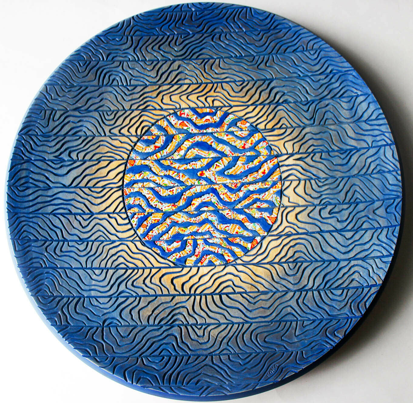 Carved wooden plate Home decoration Gift for a friend Wall plate Handmade