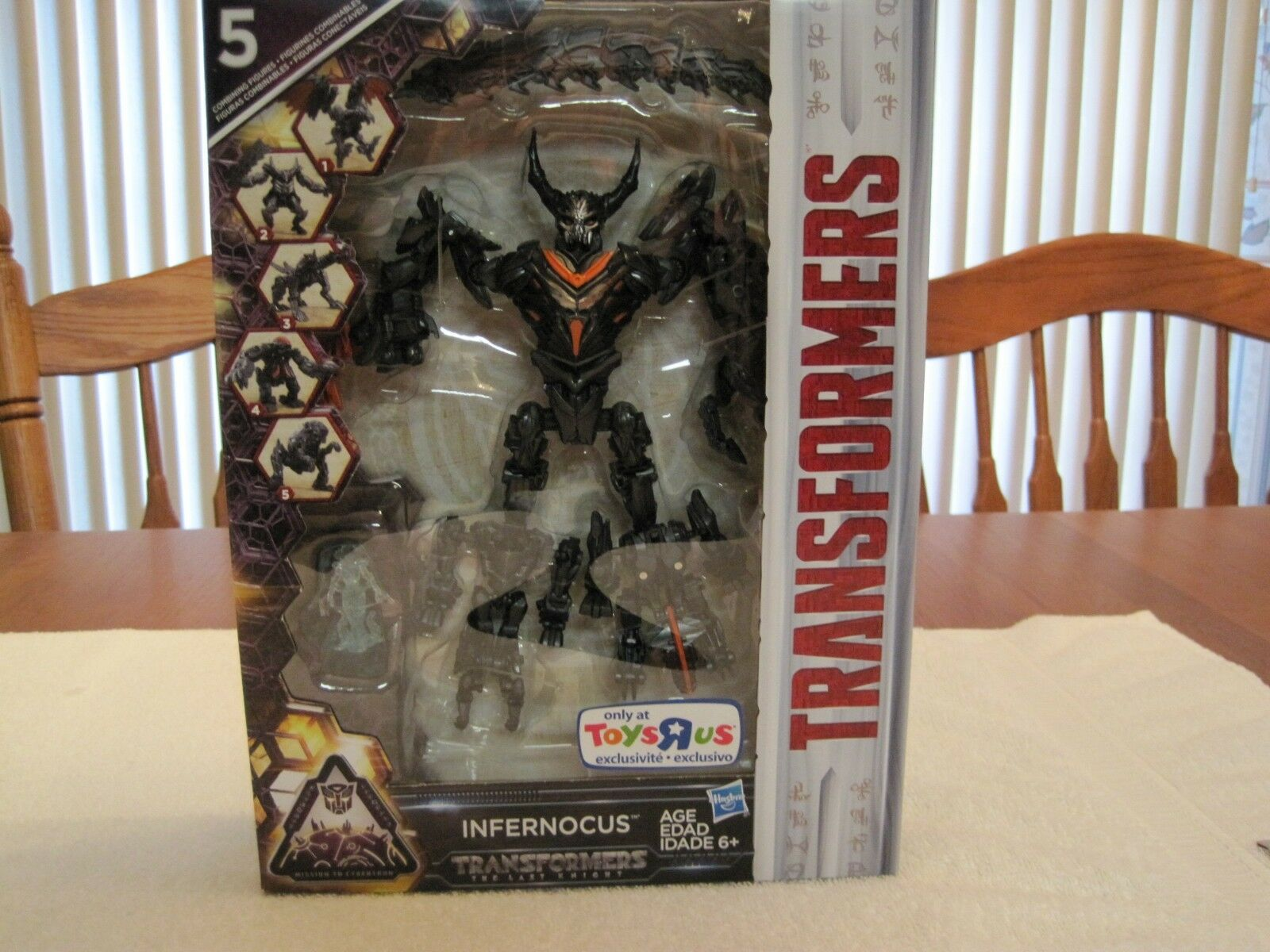 2016 TRANSFORMERS INFERNOCUS THE LAST KNIGHT-TOYS R US EXCLUSIVE--NEW
