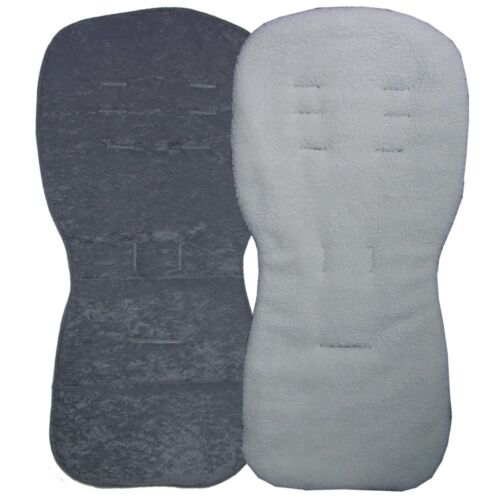 Reversible Seat Liners to fit Silver Cross Pursuit Pushchairs Grey Designs