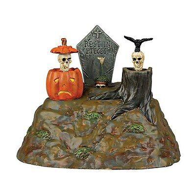 Dept 56 Snow Village Halloween New 2014 BONEYARD DO NO EVIL LIGHTS #4038903 BNIB