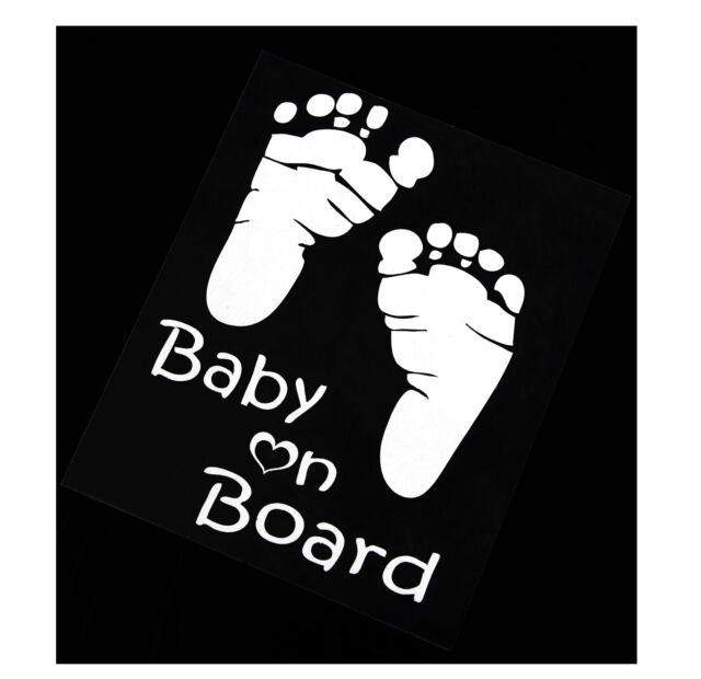 BABY ON BOARD Cute Custom Vinyl Decal Sticker auto Car vehicles Window