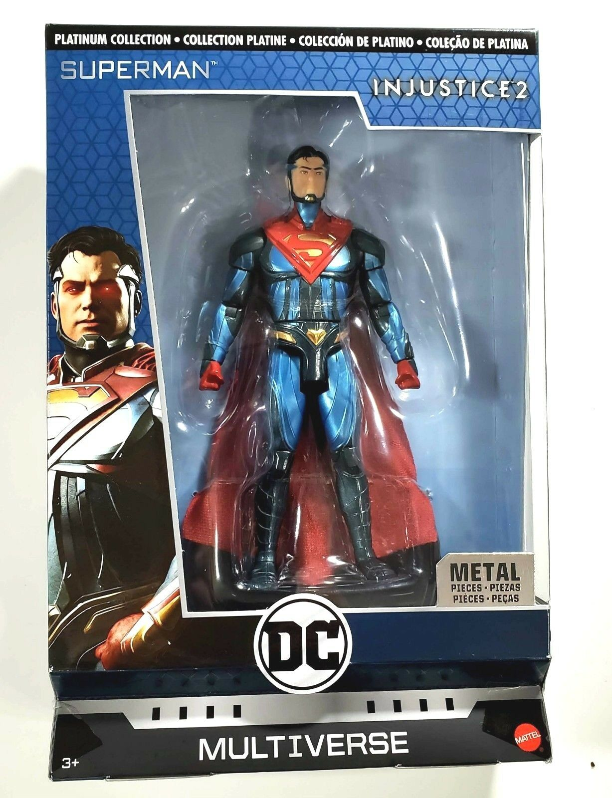 DC Multiverse Injustice 2 Superman Action Figure with Stand Platinum Collection